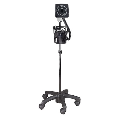 Briggs Healthcare Adjustable Clock Aneroid Sphygmomanometer Black