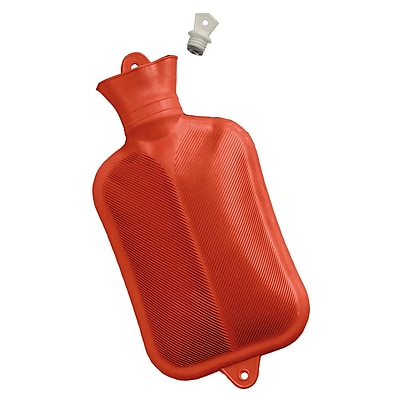Briggs Healthcare Rubber Water Bottle Red