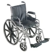 Briggs Healthcare Wheelchair with Removable Desk Arms Black