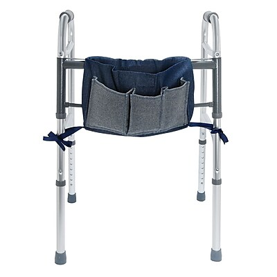 Briggs Healthcare Universal Walker Multi-Pocket Carry-All Pouch Blue