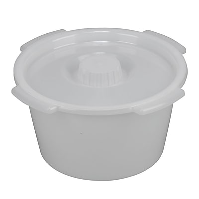 Briggs Healthcare Universal Replacement Pail with Lid and Side Handles White