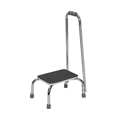 Briggs Healthcare Duro-Med Foot Stool with Support Handle Black