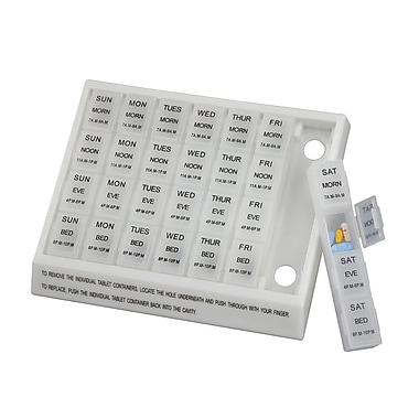 Briggs Healthcare Large Weekly Medication Planner Clear