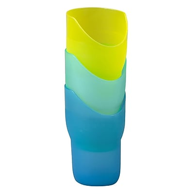 Briggs Healthcare Nosey Cups Green,Yellow,blue 384451