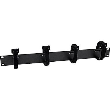 StarTech 1U Velcro Horizontal Server Rack Cable Management Panel, Black