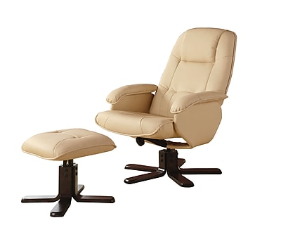 COASTER Recliners with Ottomans Wood Glider Chair, Cappuccino