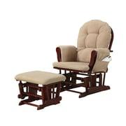 COASTER Rocker Wood Glider Chair Beige