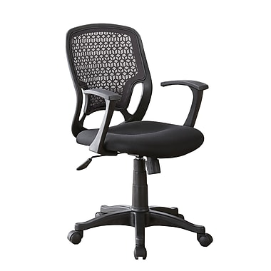 Coaster Fabric Computer and Desk Office Chair, Fixed Arms, Purple/Plum (800056)