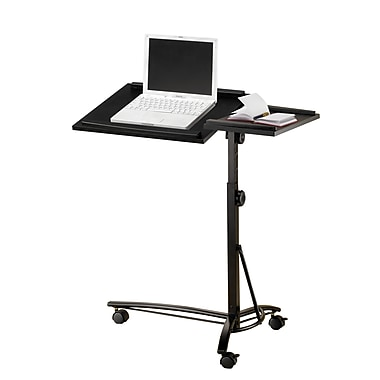 COASTER Adjustable Metal & Glass Portable/Rolling Desk Black