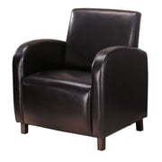 COASTER Accent Seating Vinyl Arm Chair, Dark Brown (900334)