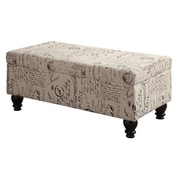 COASTER Storage Bench French Script