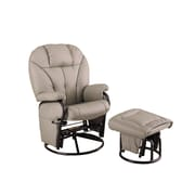 COASTER Ottoman Leatherette/Steel Glider Chair Taupe