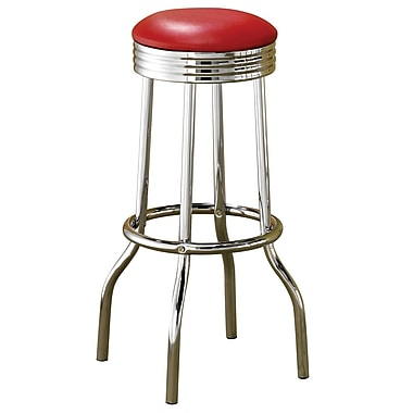 COASTER Fountain Bar Stool Red