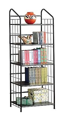 COASTER Home Office/Storage Bookcase, Black Metal
