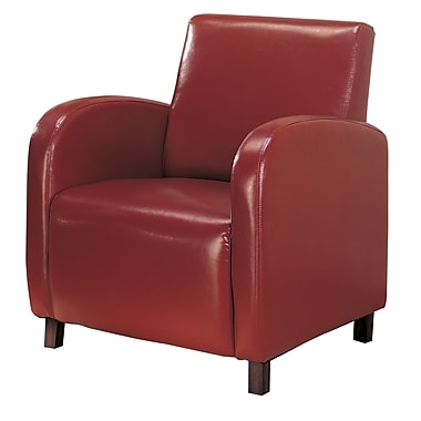 COASTER Wood & Fabric Vinyl Upholstered Arm Accent Chairs Red