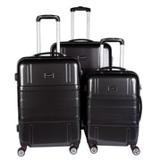 Bugatti 3-Piece Expandable Hard Case Luggage Set, Black (HLG1600)