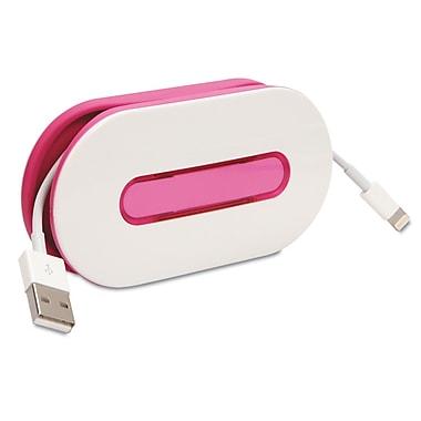 Dotz™ WrapID Cord Wrap With Identifier, Pink