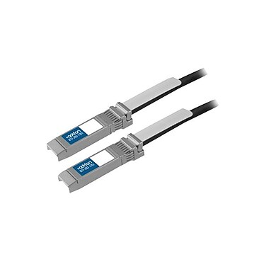AddOn®® 23' 10GBase-CU SFP+/SFP+ Passive Twinaxial Cable, Black