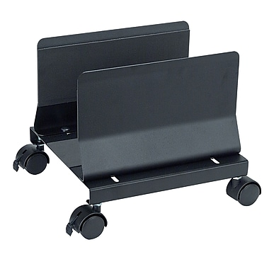 Aidata® Heavy Duty Metal Mobile CPU Stand, Black