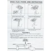 Aidata® TA002 Ergo Flex Phone Arm; Platinum