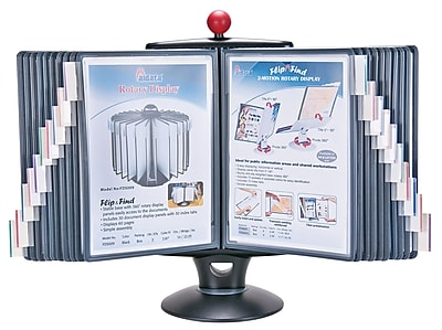 Aidata® InfoStation White Board Reference Organizer With 40 Display Panels