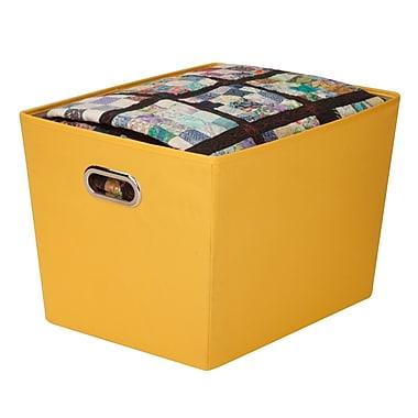 Honey Can Do® - Grand bac de rangement décoratif avec poignées, jaune