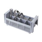 Cambro 8FBNH434151, 8 Compartment Flatware Basket - Camrack, Gray