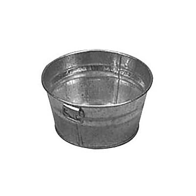 American Metalcraft MTUB63, 6'' x 3'' Natural Galvanized Tub