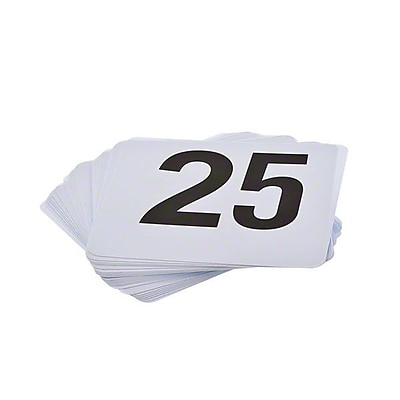 Update International Plastic Table Numbers, 1-25