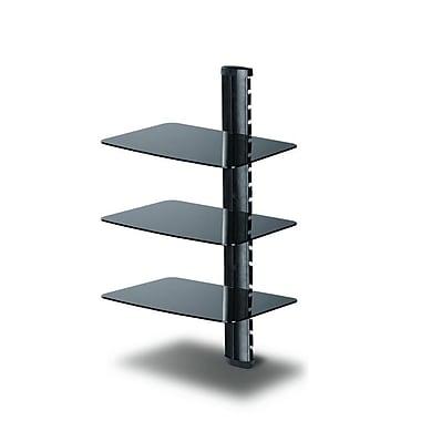 TygerClaw - Support à DVD à trois tablettes en verre à teint noir, LCD8215BLK