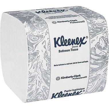 KleenexMD – Papier hygiénique à 2 épaisseurs, 4,5 x 8,3 po, blanc