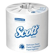 "Scott® 2-Ply Standard Roll Bathroom Tissue, 4"" x 4"", White, 80 Rolls/Pack"