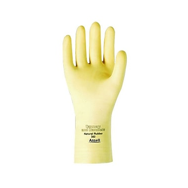 Ansell – Gants en latex de 12 po, bord coupé, fini texturé, naturel