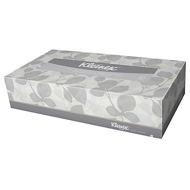 KleenexMD ® Mouchoirs naturels 2 épaisseurs 8,4 x 8 po, blanc, paq./48