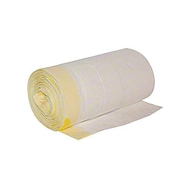Berry PlasticsMC – Sac poubelle basse densité linéaire à cordonnet sur le haut de 24 x 28 po, 0,8 mil, blanc, 12 gallons
