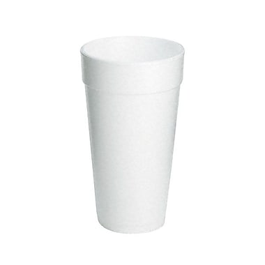Dart® Customizable Drink Foam Cup, 20 oz., White