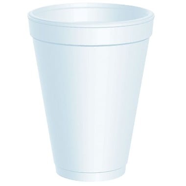 Dart® Small Big Drink Foam Cup, 12 oz., White