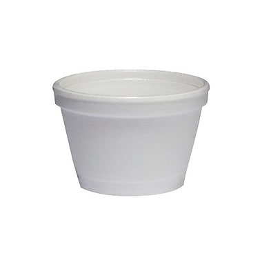 Dart® Foam Squat Container, 3-1/2 oz.