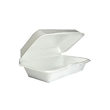 Dart® Foam Single Compartment Multi Purpose Container With Hinged Lid