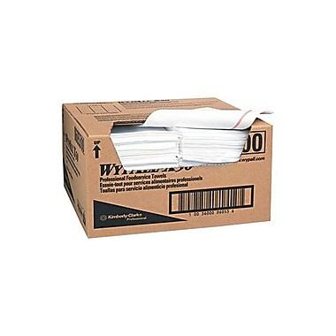 WYPALL – Essuie-tout X50 pour services alimentaires, 12,5 x 23,5 po, blanc