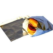 "Deluxe Foil Hamburger Plain Bag, 5.5"" x 1.25"" x 6.75"", Silver"