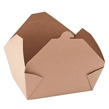 Fold-Pak Bioplus #4 Recyclable Paperboard Earth Design Food Container