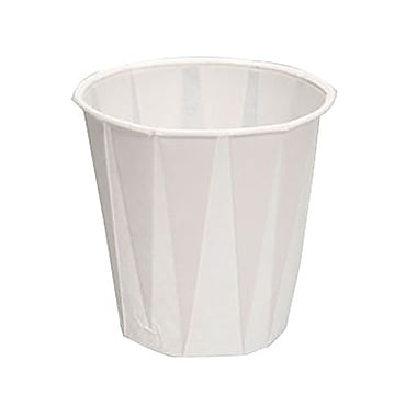 Genpak 5 oz. Pleated Paper Water Cup