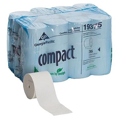 Georgia Pacific CompactMD – Papier hygiénique sans mandrin 2 épaisseurs 3,85 x 4,05 po, blanc