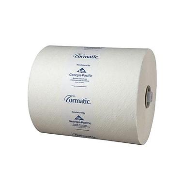 Georgia PacificMD – Essuie-tout robustes en rouleau Cormatic 8,25 po, blanc