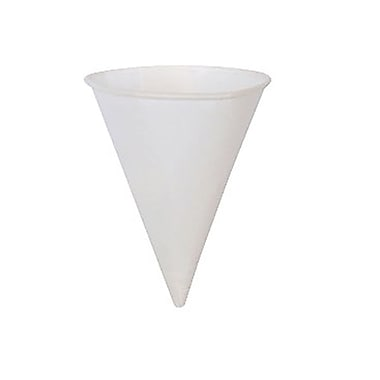 Dixie® Paper Cone Cup With Rolled Brim, 4 oz.