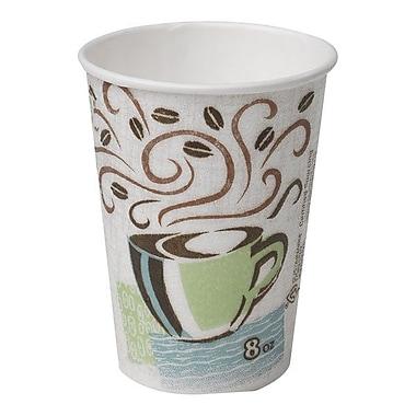 DixieMD – Gobelet pour boisson chaude enveloppé de papier isolé PerfecTouch, 8 oz