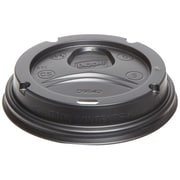 Dixie® PerfecTouch Plastic Dome Lid For 12-20 oz. Cups, Black