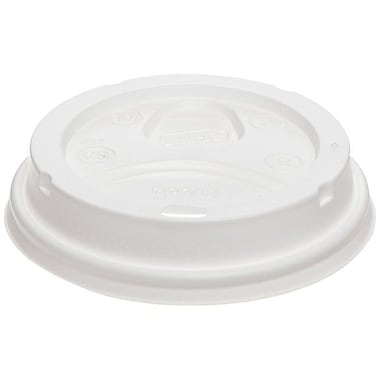 Dixie® PerfecTouch Plastic Dome Lid For 12-20 oz. Cups, White