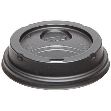 DixieMD – Couvercles en dôme en plastique pour gobelets de 8 oz, noir